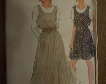 Simplicity 7687, sizes 8-20, jumper and jumpsuit, UNCUT sewing pattern, craft supplies