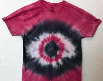 Large, Red and Black Eye Tie Dye T-Shirt