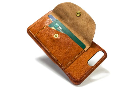 NEW Huawei P10 and P10 Plus Leather Case handmade in Italy with 2 credit cards holders and a flap Device and Colour to CHOOSE