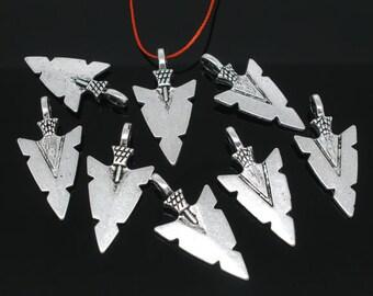 Arrowhead Charms  Pendants Tibetan silver findings 5 pieces
