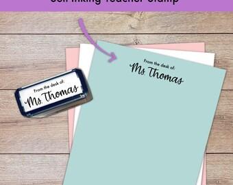 Rectangle Self-inking Teacher Stamp - Hand lettered