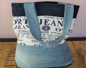 Large bag of recycled denim, zero waste