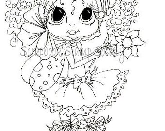 INSTANT DOWNLOAD digitale Digi Stamps Big Eye Big hoofd poppen Digi Pheebee Flutterbee door Sherri Baldy