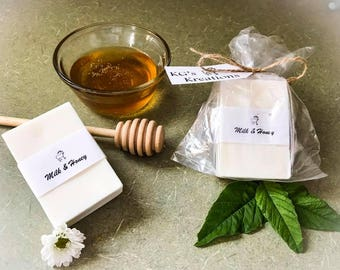 Milk and honey soap, Goat milk soap, handmade, sensitive skin, natural, eczema, facial soap