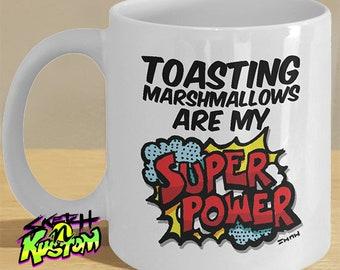 Toasted Marshmallows Mug, Toasting Marshmallows Mug / Marshmallow Gifts for a Marshmallow Lover / Marshmallow Decor, Toasted Marshmallow Day
