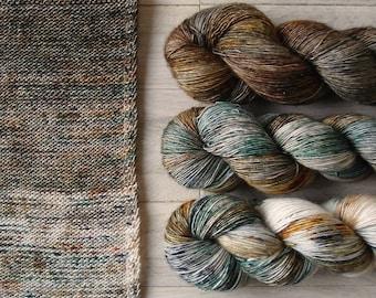 Hand Dyed Sock Yarn Superwash Merino - Single Merino Wool - Speckled yarn merino - Yarntoyou  - SKINNY MERINO - Spicy Collection