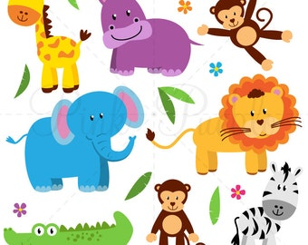 Zoo Animals SVGs, Zoo Safari Jungle Animals Cutting Templates - Commercial and Personal Use