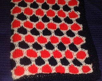 Baby blanket in red white & blue