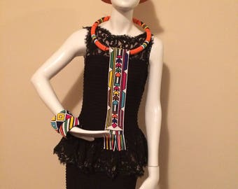 Ndebele necktie made with beads