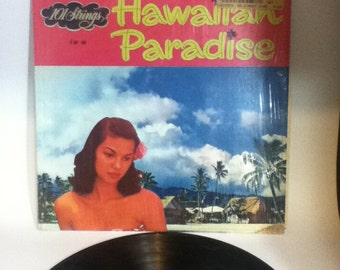 101 Strings in a Hawaiian Paradise Vintage Vinyl 33 Record Album LP