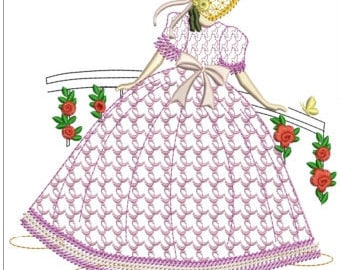 """Southern belle machine embroidery download 4 different sizes ( 7x7"""" 6X6""""  5X5"""" 3.4  X3.4 hoop)"""
