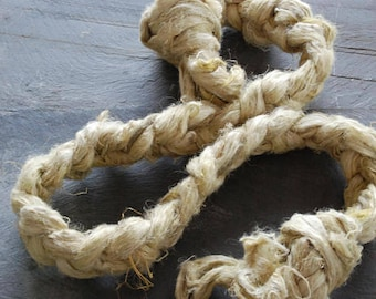 HEMP FIBRE ~ LOVAGE ~ Naturally Dyed ~great for vegan needle felting, crafting, spinning, weaving, roving, hair, plant fibre, plant dyed