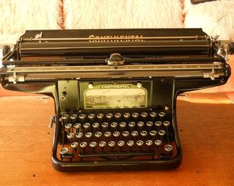 Free Shipping! Rare 1913's CONTINENTAL Wanderer-Werke A.G.Chemnitz Typewriter. Antique Typewriter with Glass Keys. Unique Manual Typewriter