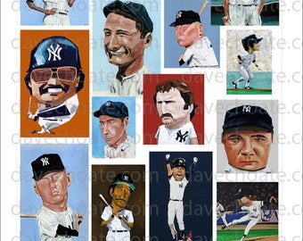 New York Yankees Art Collage Photo Print