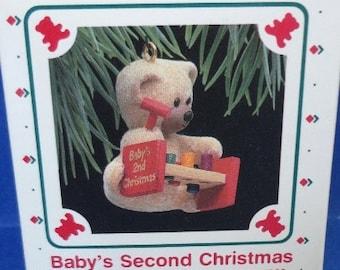 1988 Baby's Second Christmas Hallmark Retired Ornament