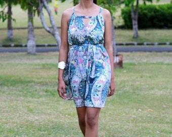 Summer Dress, Mini Dress, Beach cover up, Womens short dress