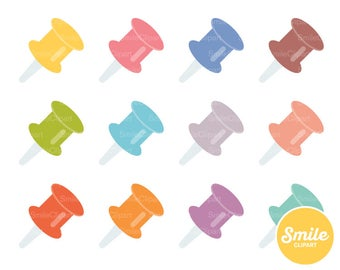 Push Pin Clipart Illustration for Commercial Use | 0112