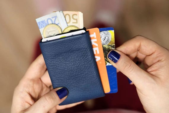 Best men gift, RFID Wallet, Front Pocket Slim Leather Wallet, Personalized Leather Wallet, Minimalist Card Wallet, Mens Leather Wallets
