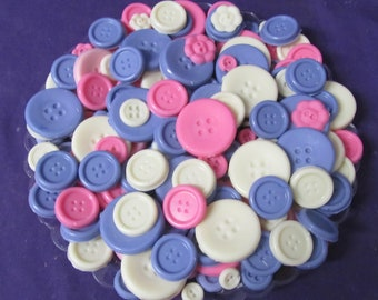 Cute as a Buttons chocolate candy tray