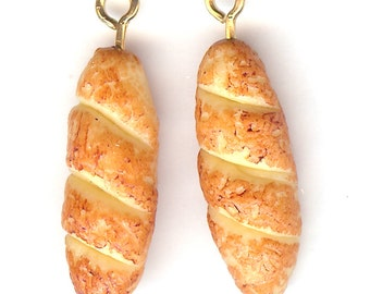 Loaf of FRENCH BREAD Charm. Resin. 3D Baguette. One Loaf Only! wm