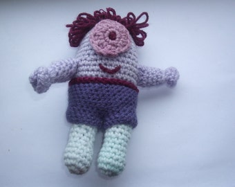 Purple Cyclops Monster Amigurumi Soft Toy