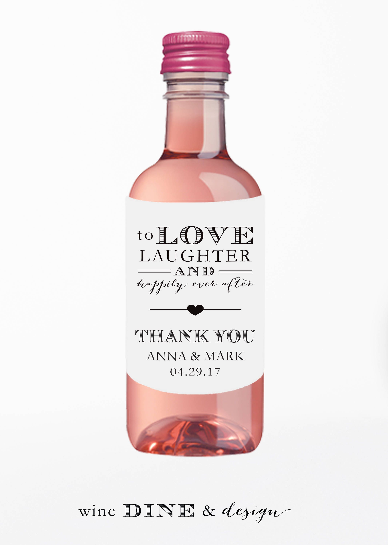 Mini Wine Bottle Labels//Wedding Wine Label//Favor