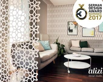 ALIZI.DECO DIVIDER - Flower - room divider / divider screen / room divider hanging / modern room divider / interior divider / screen divider