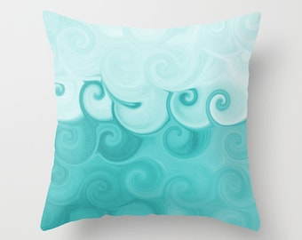 Throw Pillow Cover Teal Turquoise  Modern Home Decor Living room bedroom accessories Cushion
