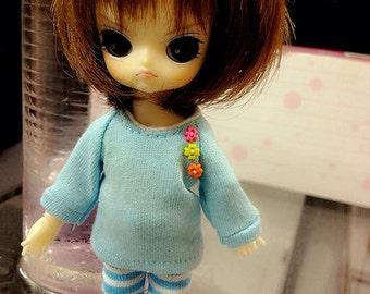 B222 -T-shirt and pants for hujoo baby / ai doll