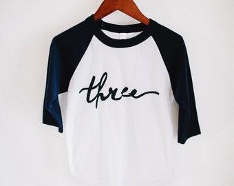 Third Birthday Shirt; 3rd Birthday Shirt; 3 Birthday Shirt; Three; 3; Third Birthday Tee; Three Birthday Shirt; Simple birthday; 3 Birthday