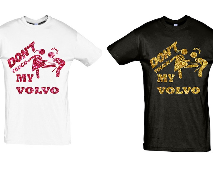 100% glitter Volvo T-Shirt gift sayings glitter holiday crew love tshirt