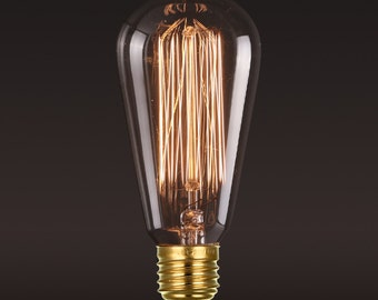 Ampoule Edison E27 Squirrel Cage à incandescence - ampoule edison-110V-220V 40w / 60w - edison lumière style industriel ampoule - vintage style -