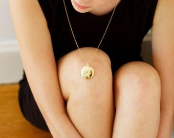 """Virgo 14kt Gold Dipped 1"""" Zodiac Constellation Locket"""