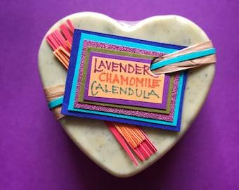 Lavender Chamomile Calendula Soap