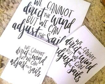 Adjust the Sails -- prints or cards