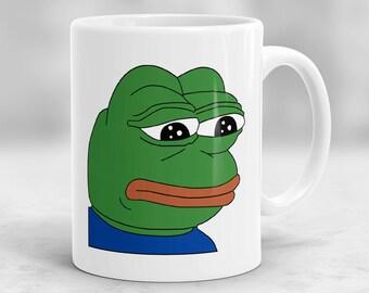 Pepe the Frog Mug, Meme mug, Funny Mug, Pepe The Sad Frog Mug P79