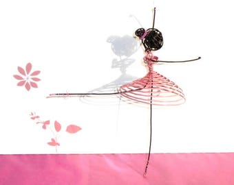 Dancer in pink wire