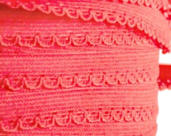 Ribbon elastic coral salmon color