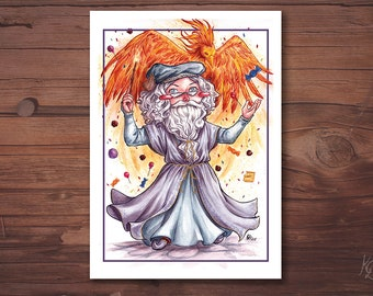 A6 postcard - Albus Dumbledore - Harry Potter Fanart card