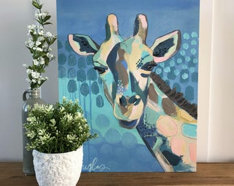 Gigi Giraffe- Giclee Print of an original Kristin Douglas