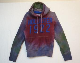 Hollister Heavy Hoodie, Tie Dye, Men's Small 06384