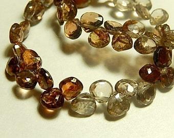 Rare Zircon Gemstone, Faceted Heart Briolettes, 5-6mm. Semi Precious Gemstone. Non Matching 2 to 9 Briolettes. (dzcn).