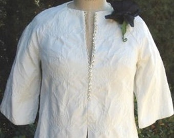 Reduced Tunic/ Pant 2 pc. Set Rose Cloque' Pique Tunic/ Slim Double Crepe Pant Size 8 Item #1685 Resort/Spring