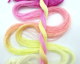 "Size 40 ""Peace"" hand dyed tatting thread 6 cord cordonnet crochet cotton"