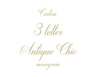 3 Letter Monogram for Wedding Monogram, Wedding Logo Design, Vintage Monogram