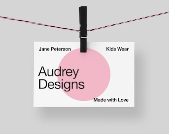 Simple Business Card * Premade Business Card, Minimalistic Calling Card, Name Card, Legal Contact Card, Business Card Design, Calling Card