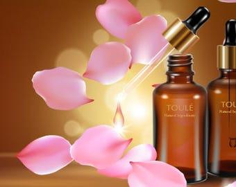 Anti aging face & hair oil vegan, organic, non-toxic