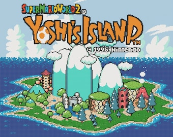 Yoshi's Island Title Screen Cross Stitch Pattern