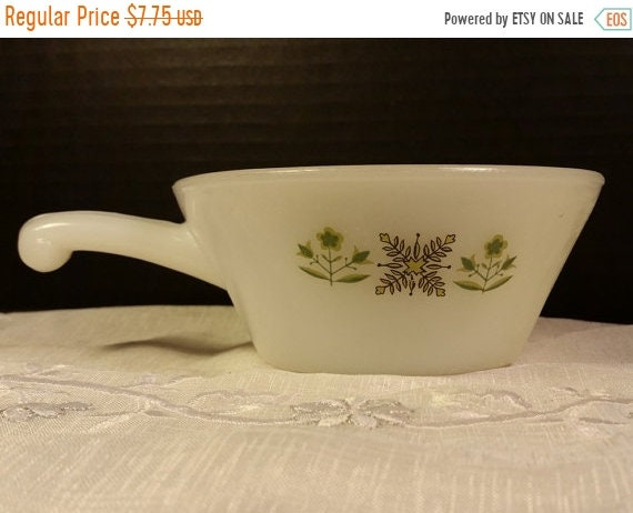 Delayed Shipping Anchor Hocking Fire King Meadow Green Soup Bowl Handle Vintage Milk Glass Chili Soup Bowl Ramekin Anchor Hocking Milk Glass