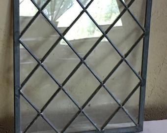 Vintage leaded glass window panes